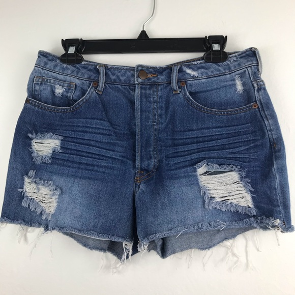 H&M Pants - H&M distressed high waisted jean shorts Sz 10